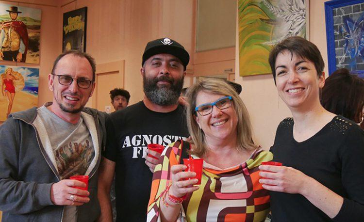 Les 4 membres fondateurs de la Team du Troll : Didier Nart, Stéphane Willemy, Claire Morisseaau et Isabelle Imbault