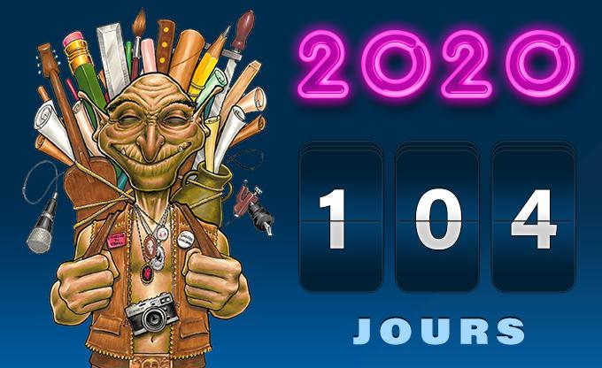 Compte à rebours 104 jours avant La Team du Troll 2020